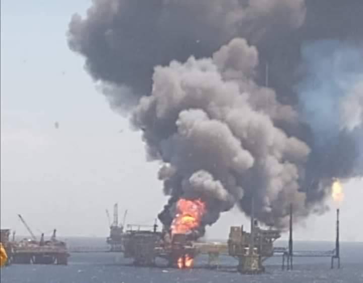 Explosión en plataforma de Sonda de Campeche deja 5 lesionados