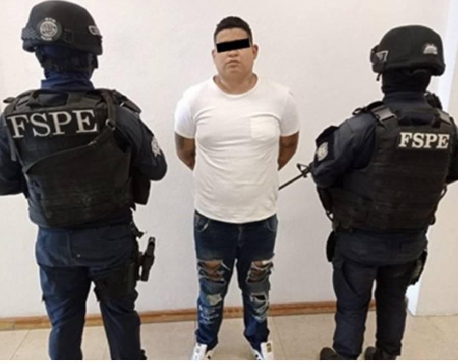 Detiene FSPE en Silao, a un hombre con más de 130 dosis de cristal y mariguana