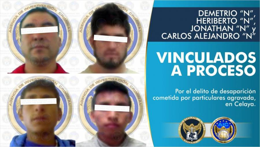 Capturan en Guanajuato a cuatro integrantes del Cártel Santa Rosa de Lima