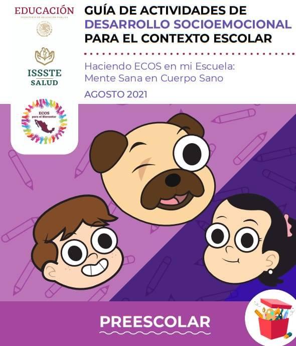 Guía de Actividades de Desarrollo Socioemocional para el Contexto Escolar (Preescolar)