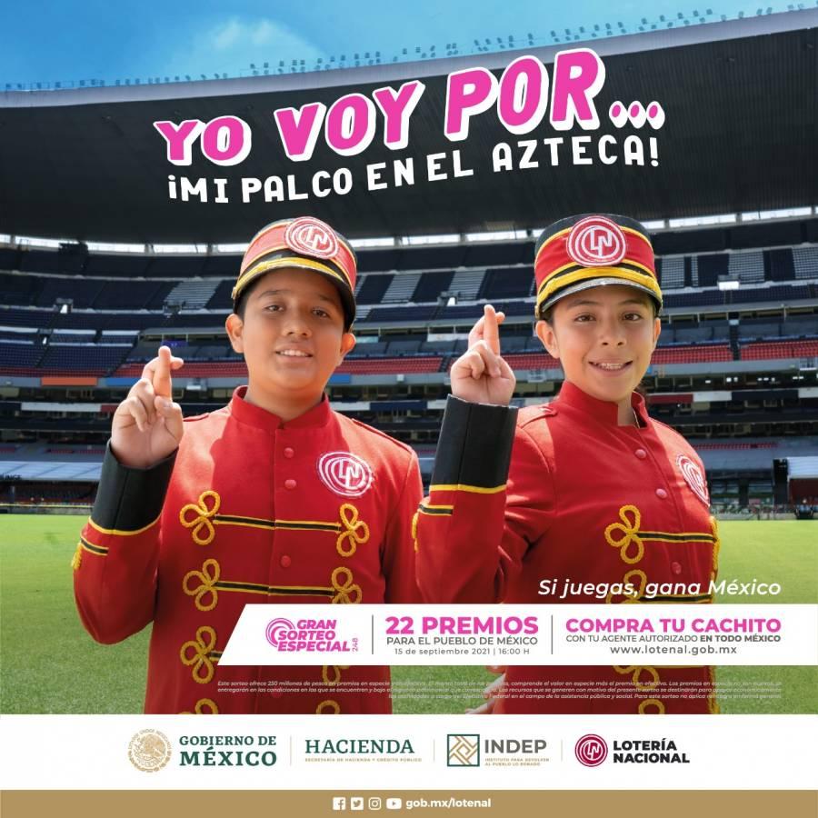 Con un cachito de 250 pesos puedes disfrutar un palco en el Estadio Azteca