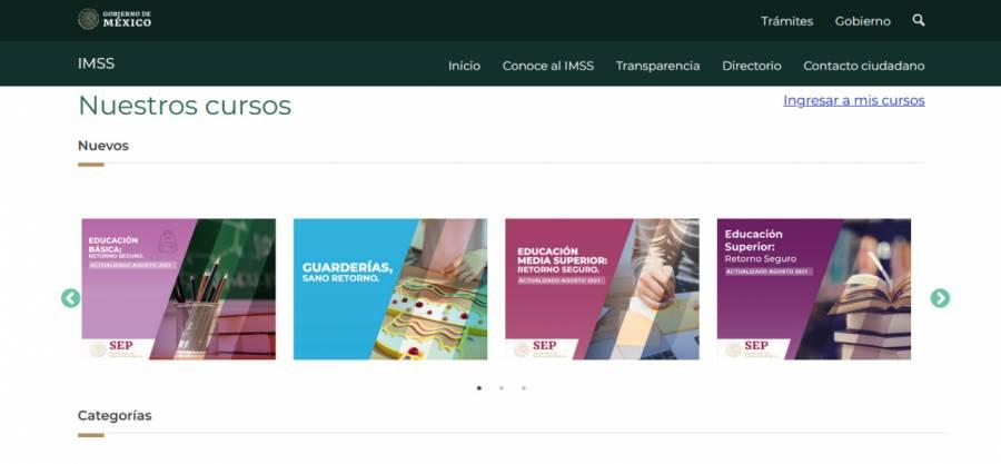 IMSS ofrece cursos gratis en línea sobre retorno seguro a las escuelas