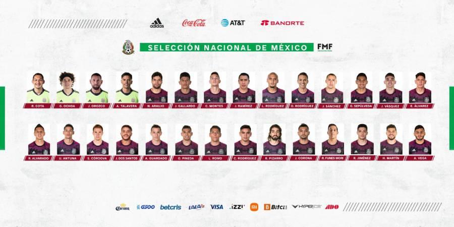 Esta es la convocatoria de México para el Octogonal de Concacaf
