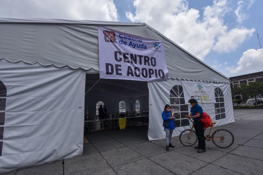 Se han recolectado mas de 45 toneladas de víveres para Veracruz: Segob