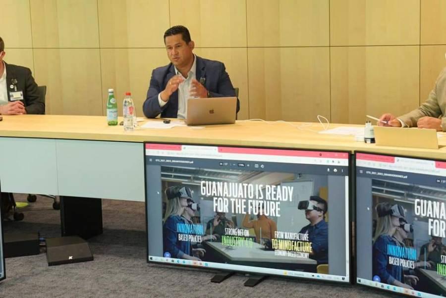 Diego Sinhue y Nestlé dialogan sobre continuidad de la empresa en Guanajuato