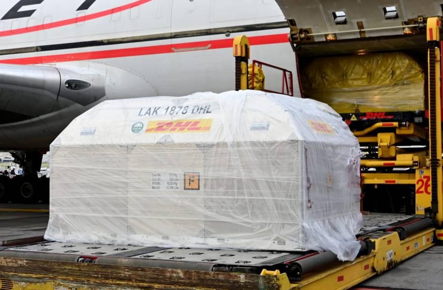 Llegan a México 787 mil 410 dosis de vacunas contra Covid-19 de Pfizer