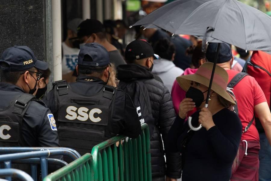 Cierran acceso el Zócalo por Tercer Informe de López Obrador