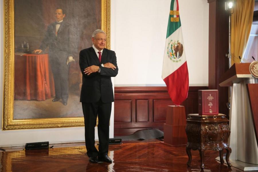 Entrega del 3° informe de gobierno de López Obrador en la Cámara de Diputados