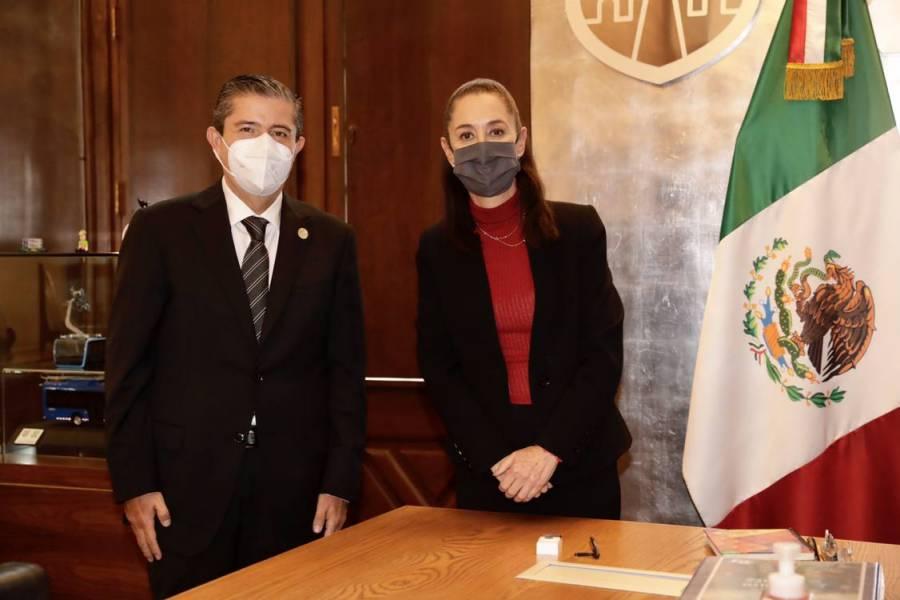 Alcalde electo de Coyoacán, Giovani Gutiérrez, se reúne con Claudia Sheinbaum