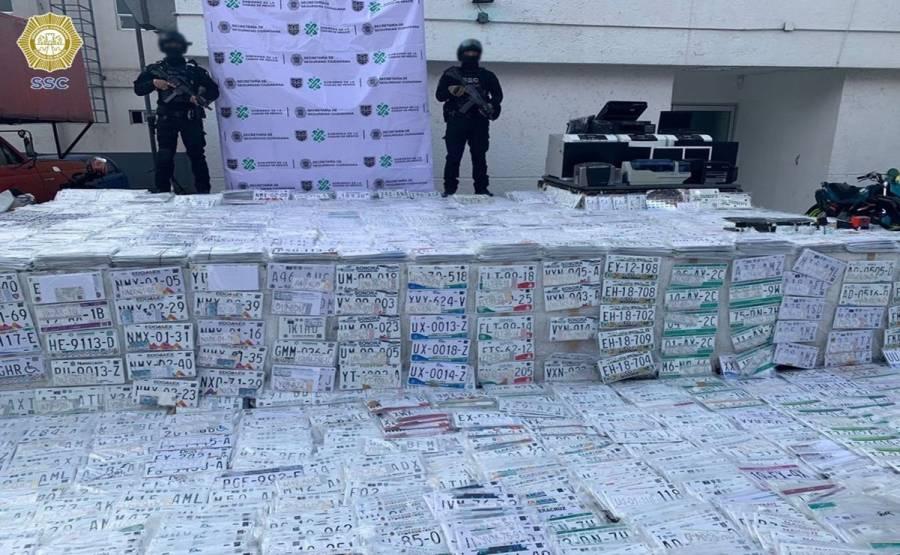 Aseguran 5 mil placas apócrifas durante operativos en Tlalpan y Coyoacán