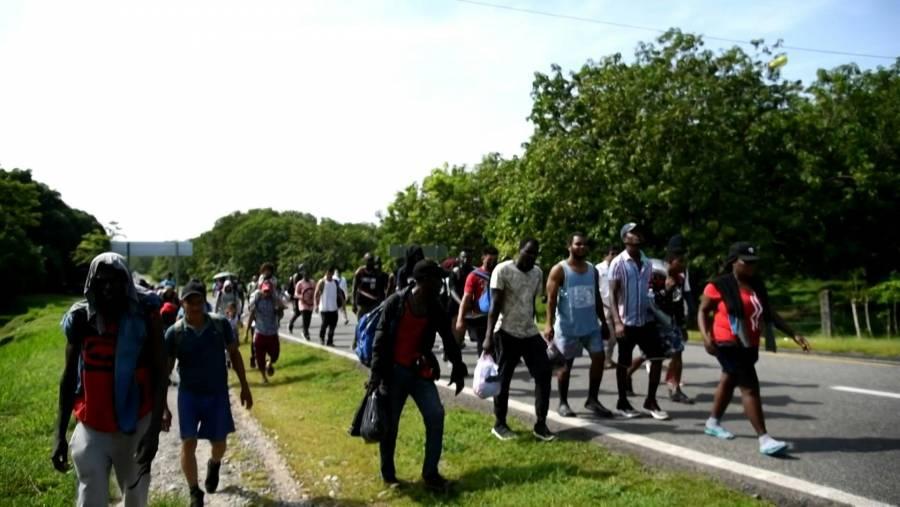 Nueva caravana migrante avanza desde Chiapas