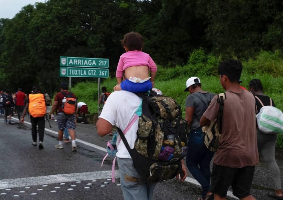 Guardia Nacional y el INM dispersan caravana migrante en Chiapas