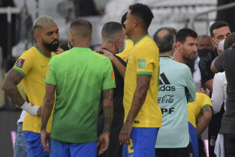 Insólito: Brasil vs Argentina suspendido por infracción sanitaria de jugadores argentinos