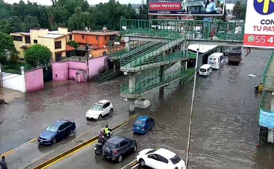 Lluvias inundan colonias de Ecatepec y dejaron un muerto