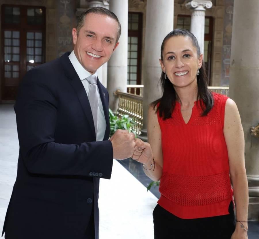 Adrián Rubalcava se reúne con Claudia Sheinbaum; abordan temas de Cuajimalpa