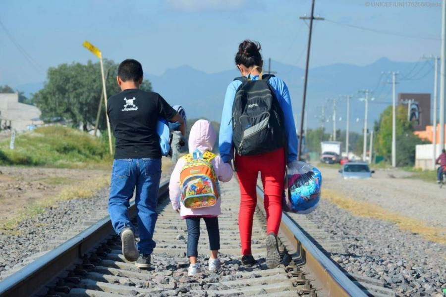 Expresa UNICEF preocupación por situación de niños migrantes que viajan solos por México