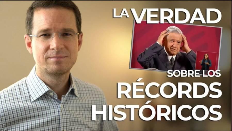 "Ricardo Anaya critica ""récords históricos"" anunciados por AMLO"