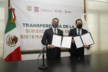 Secretaría de Gobierno y SSC de la CDMX firman acuerdo para la transferencia del Sistema Penitenciario