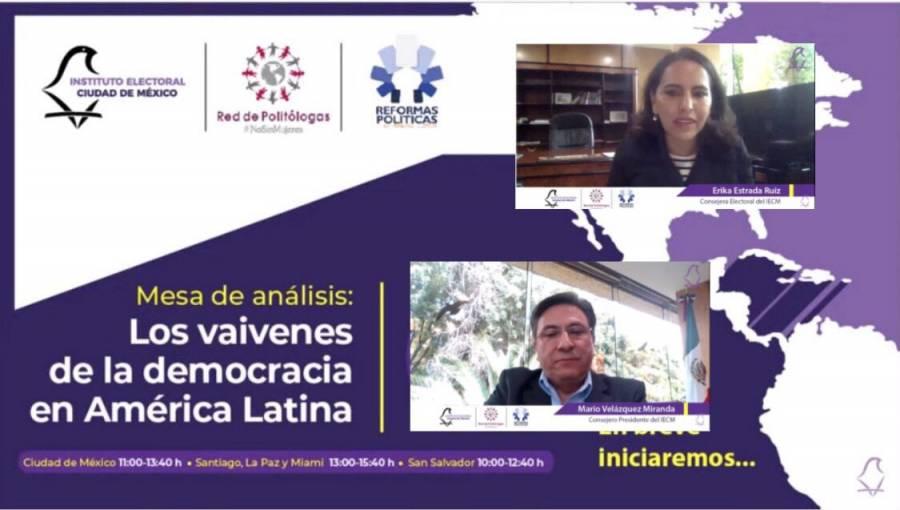 IECM y especialistas internacionales analizan situación democrática en América Latina