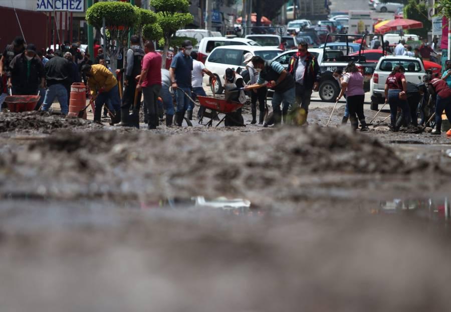 Vecinos de Ecatepec bloquearon vialidades en demanda de ayuda del gobierno federal tras inundaciones