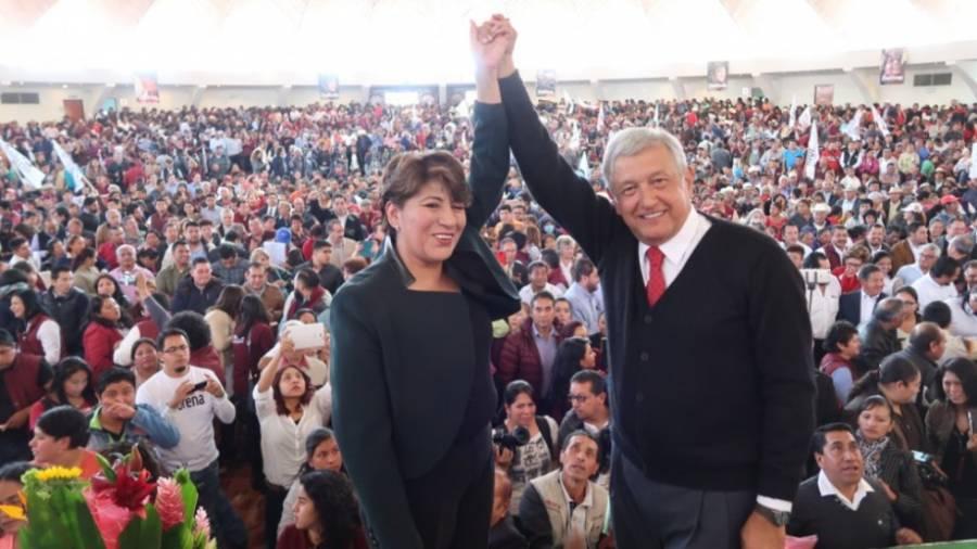 Acusaciones contra Delfina Gómez, para evitar su candidatura: AMLO