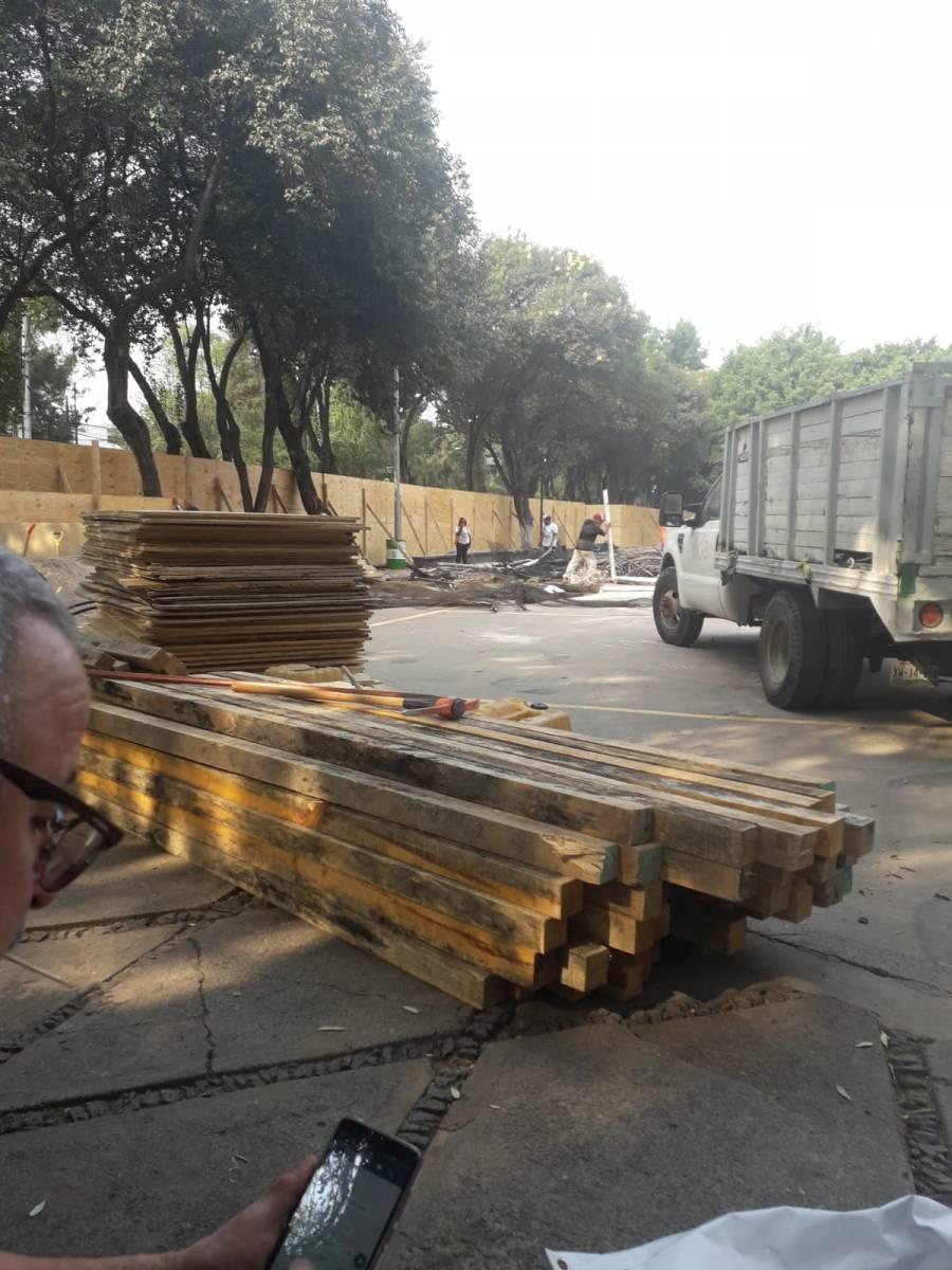 En Benito Juárez vecinos anuncian acciones legales por derrumbe de parque y canchas de frontón