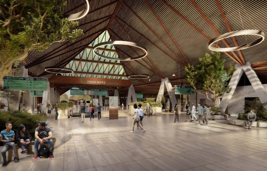 Presenta Fonatur, estación Palenque del Tren Maya