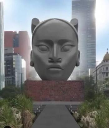 """""""Tlali"""", la escultura que sustituirá a Cristobal Colón en Paseo de la Reforma"""