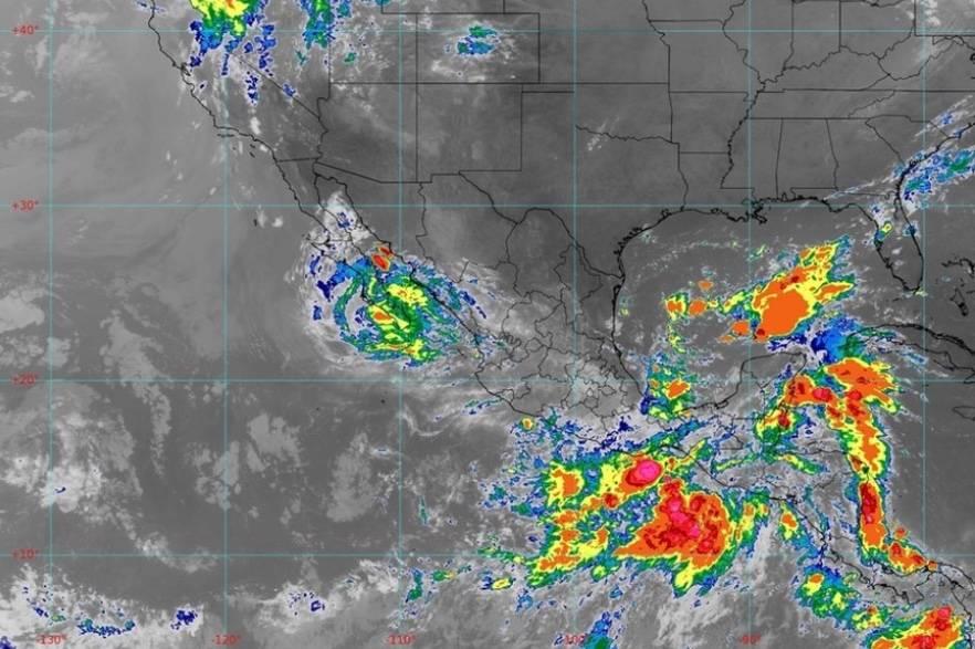 """""""Olaf"""" se degrada a tormenta tropical"""