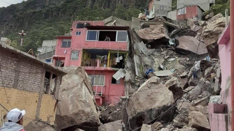 Derrumbe en el Cerro del Chiquihuite sepulta casas y deja desaparecidos