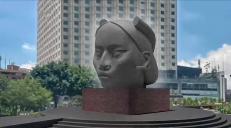 """""""Tlali"""", la escultura que sustituirá a Cristóbal Colón en Reforma"""