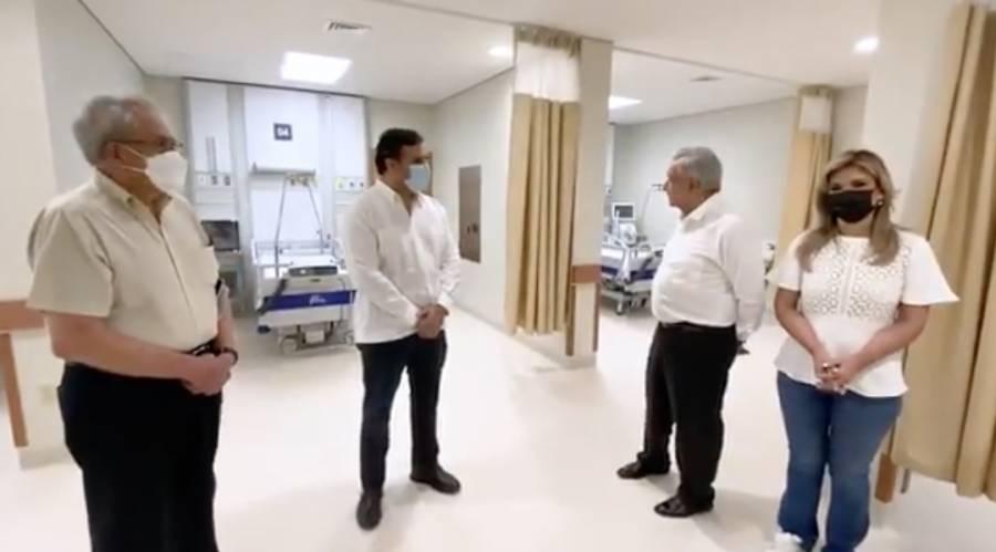 AMLO recorre Hospital General de Especialidades en Sonora