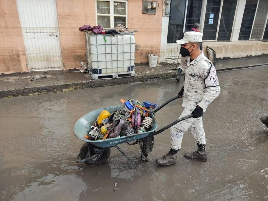 La Guardia Nacional monitorea el río Tula y el Salado para prevenir riesgo en la población