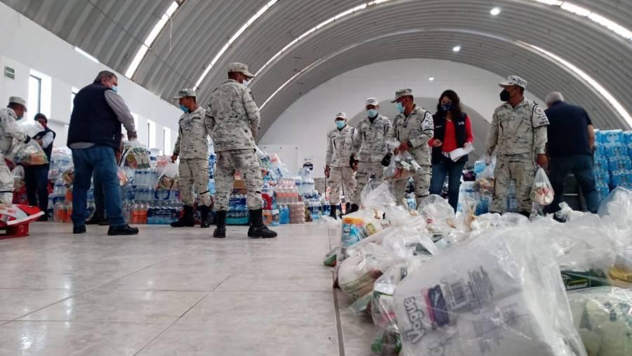 La Guardia Nacional ayuda en albergues por desbordamiento del río Tula