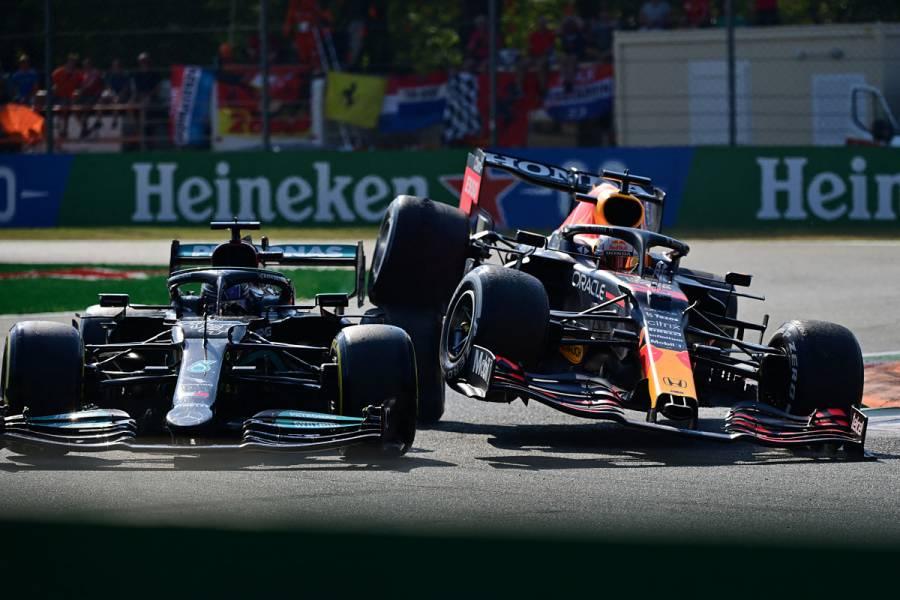 VIDEO: Lewis Hamilton y Max Verstappen protagonizan fuerte choque en el GP de Italia