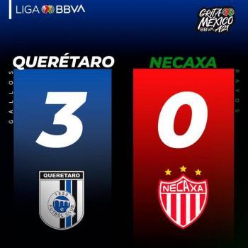 El Querétaro golea 3-0 al Necaxa en el Apertura-2021