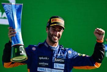 """Daniel Ricciardo gana el GP de Italia; """"Checo"""" Pérez finaliza en quinto lugar"""