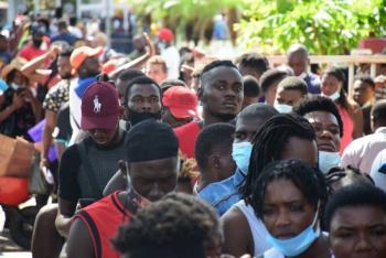 En Tapachula, migrantes inician huelga de hambre para exigir libre tránsito
