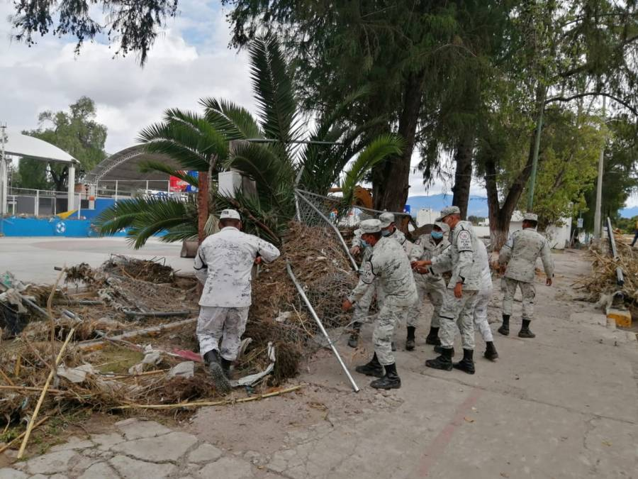 En Tula e Ixmiquilpan, Guardia Nacional ayuda en reconstrucción de localidades