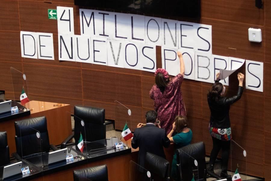 Oposición echa en cara a titular de Bienestar el incremento de la pobreza en México
