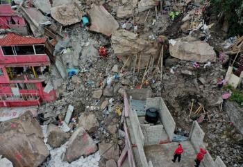 Edomex continúa labores de rescate en cerro del Chiquihuite