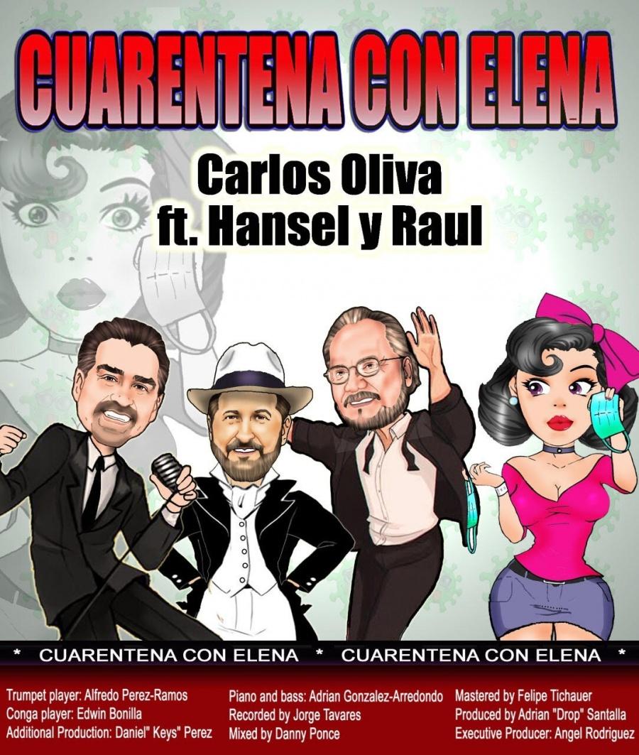 """""""Cuarentena con Elena"""" reúne a los cantantes cubanos Carlos Oliva y Hansel & Raúl"""