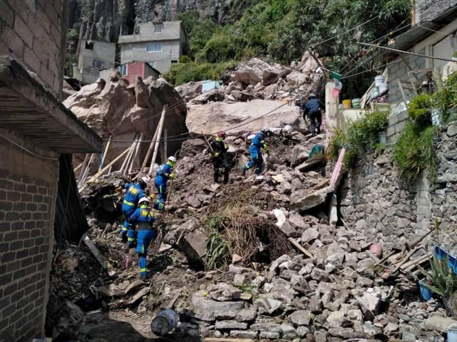 Siguen labores de búsqueda en el Cerro del Chiquihuite