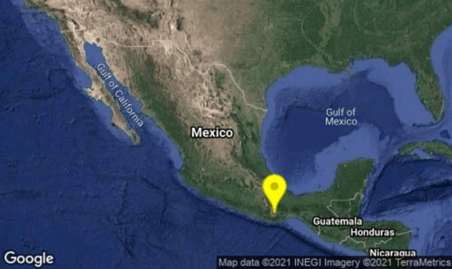 Tiembla en Oaxaca, fue un sismo magnitud preliminar 4.9