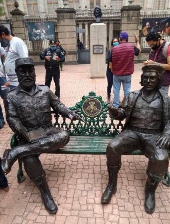 En CDMX, piden retirar estatuas de Fidel Castro y Che Guevara