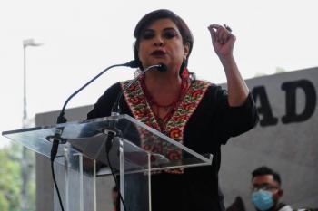 Clara Brugada, alcaldesa de Iztapalapa da Grito de más de dos minutos y medio