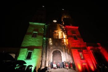 Diego Sinhue encabeza ceremonia del Grito de Independencia en Dolores