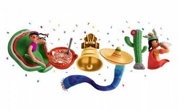Google celebra la Independencia de México con un folklórico Doodle