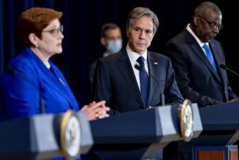 """Tras desencuentro por submarinos, EEUU dice a Francia que es un """"socio vital"""""""