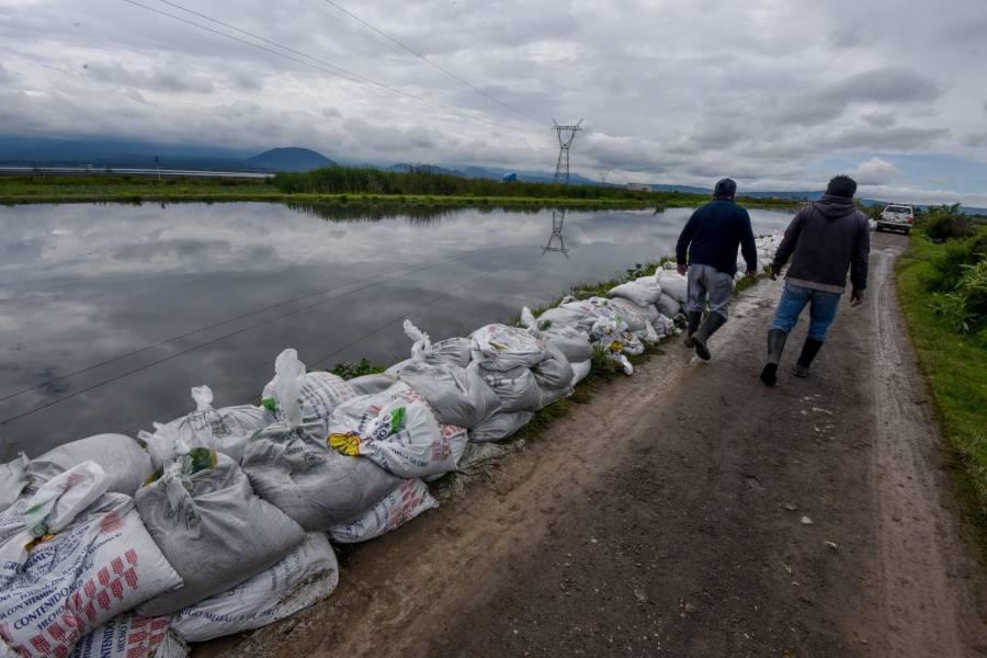 Conagua alerta a pobladores por creciente del río Lerma
